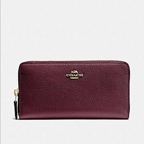 Coach Handbags - Metallic Cherry Coach wallet